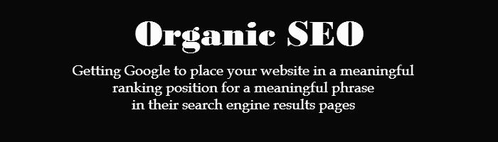 Defining Organic SEO