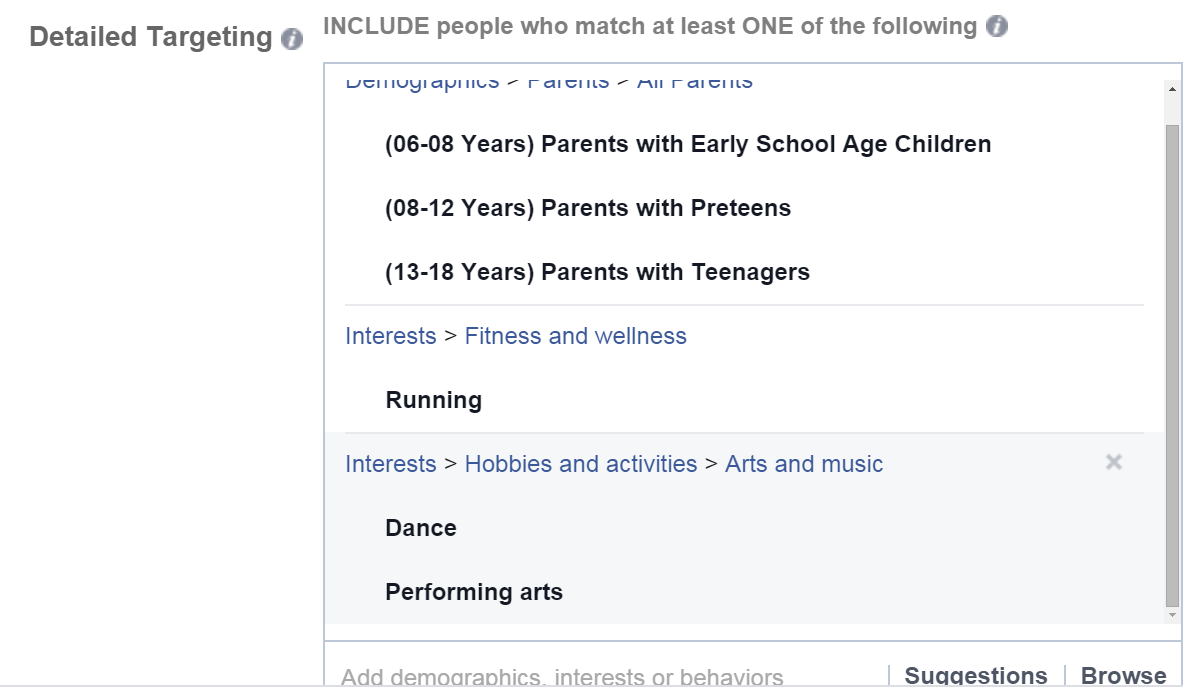how to add group targetting facebook
